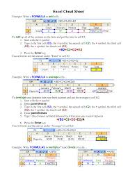 basic excel formulas cheat sheet excel cheat sheet now pdf