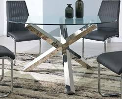 metal glass top tables and coffee uk wood end vogue large round chrome dining table kitchen alluring modern 4