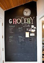 Chalkboard Paint Ideas Kitchen Thriftionary Chalkboard Painted Wall Craze