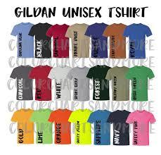 T Shirt Color Chart Gildan 42000 Performance Shirt Color Chart Shirt Color Chart Gildan Color Chart Color Chart For Selling Tshirt Color Chart Gildan