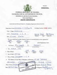 Sample Of Marriage Certificate In Nigeria Copy Birth Certificate