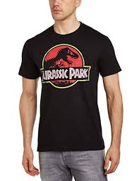 <b>Jurassic Park</b> Men's Classic Logo Crew Neck Short Sleeve <b>T</b>-<b>Shirt</b> ...