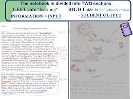how to use your interactive science notebook ppt video online  right side is reflection review student output