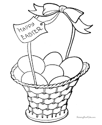 Free Easter Basket Coloring Pages 002