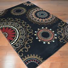 delectably yours com city kaleidoscope black area rug 5x8 8x10