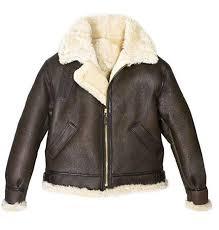 Raf Jacket Size Chart Mens Raf B3 Brown Bomber Ww2 Pilot Real Shearling Sheepskin Aviator Flying Leather Jacket