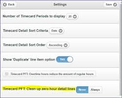 timecard hours can web apps timecard entry clean up zero hours default be changed