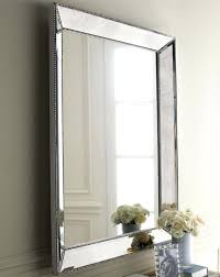 Small Picture Modern Silver Framed Large Wall Mirror With Tile Border 1543 1300