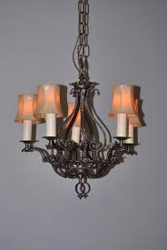 3 of 8 antique five arm gothic revival chandelier in wrought iron