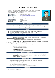 Simple Resume Template Microsoft Word Simple Resume Format Download In Ms Word Professional Template