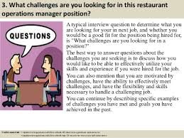 Top 10 restaurant operations manager interview questions and answers