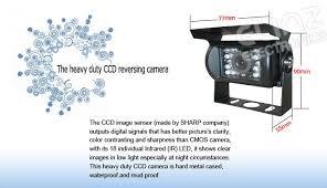 7 monitor hd 12v 24v reversing ccd camera reversing ccd camera car reversing camera specifications 4pin gear7rv4pin80020