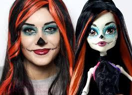 skelita calaveras makeup tutorial from monster high