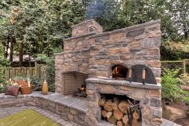 outdoor fireplace with pizza oven traditional portland with regard to outdoor fireplace pizza oven decorating