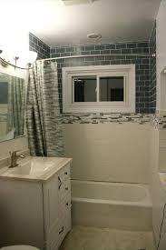glass subway tile bathroom shower floor