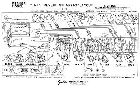 fender layout diagrams fender twin reverb ab763 layout diagram
