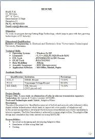 Bio Data Resume Sample One Page Resume Template Format Bio Data ...
