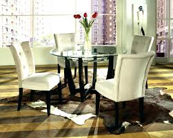 dining glass table and chairs round glass dining room table sets furniture astonishing white round modern