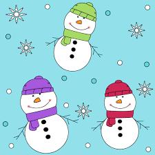 Fun Snowman Background Fun Snowman Background Image