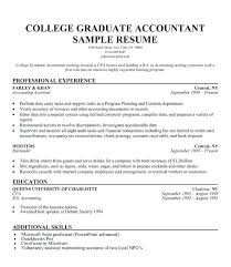 Resume Example For College Graduate Resume Outline For Students