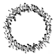 Circle Border Musical Notes Circle Border