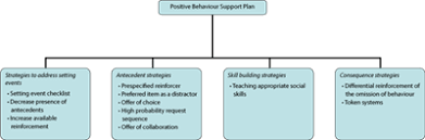 strategies to address challenging behaviour in young children  figure 3 components of a positive behaviour support plan example interventions illustrated by each of the case studies presented