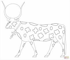 Small Picture As A Cow Page Free Hathor Cow Pictures To Color As A Cow Coloring
