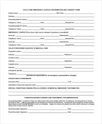 Emergency Contact Forms For Children 32 Emergency Contact Form Example