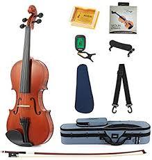 Eastar Eva 1 Full Size 4 4 Violin Set For Beginner Student With Hard Case Rosin Shoulder Rest Bow Clip On Tuner And Extra Strings