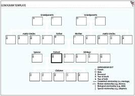 Genogram Key 3 Generation Family Examples Three Post Template For Social