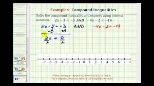 ex solve a compound inequality no solution