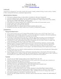 Skill Resume Free Sample Junior Technical Writer Resume Resume