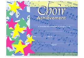Choir Certificate Template Choir Certificate Template Colorful Award Certificates Of