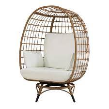 wellow baytree egg swivel patio chair