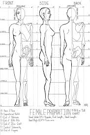 Human Proportions Chart Female Proportion Chart By Kazitaz In 2019 Drawing Lessons