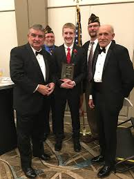d post phs senior aidan busch wins vfw voice of democracy  aidan is pictured center vfw officials after winning at the state level from left to right brian duffy vfw national commander in chief