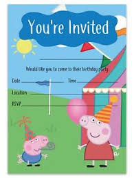 Birthday Invitations Boy Details About Peppa Pig Birthday Party Invitations Boy Girl Unisex Peppa Pig Theme