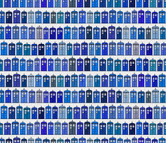 Tardis fabric pattern wallpaper cloth Doctor Who | hodgepodge ... & Tardis fabric pattern wallpaper cloth Doctor Who | hodgepodge fabric by  spacefem on Spoon flower - Adamdwight.com