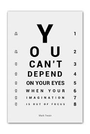 Alter Ego Mark Twain Imagination Inspiring Eye Chart