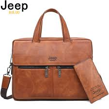 <b>JEEP BULUO Famous</b> Brand Men Bags Business Briefcase Bag ...