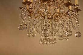 chandeliers 1930s crystal chandelier french and bronze artisan 1930