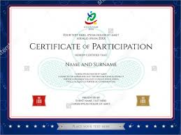 Sports Certificates Sample Certificate Of Participation For Sports
