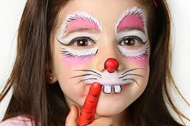 full size of coloring page magnificent painted bunny faces cute makeup make up ideas