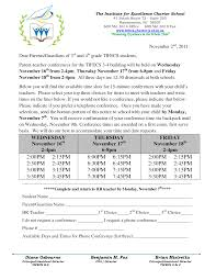 Sample Invitation Letter Parent Teacher Conference Choice Image