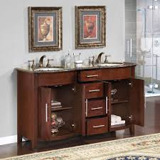 58 silkroad cambridge double sink cabinet bathroom vanity hyp 0221 bb