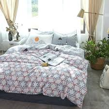 blue and white duvet covers navy blue and red stars printed cotton bedding sets blue and