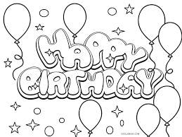 They are free and easy to print. Free Printable Happy Birthday Coloring Pages For Kids