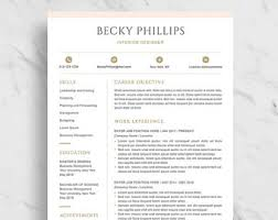 Modern Resume Template For Word Clean Resume Design Two