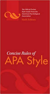 Image result for apa sixth edition pdf