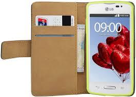 Black Wallet Book-Style Case for LG L50 ...
